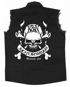 88-6061-L K&N Shirt; Skull & Bones; Black