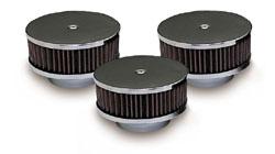 Pontiac Tri-Power Air Cleaners - Chrome
