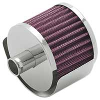 Steel Base Crankcase Vent Filters with Shield